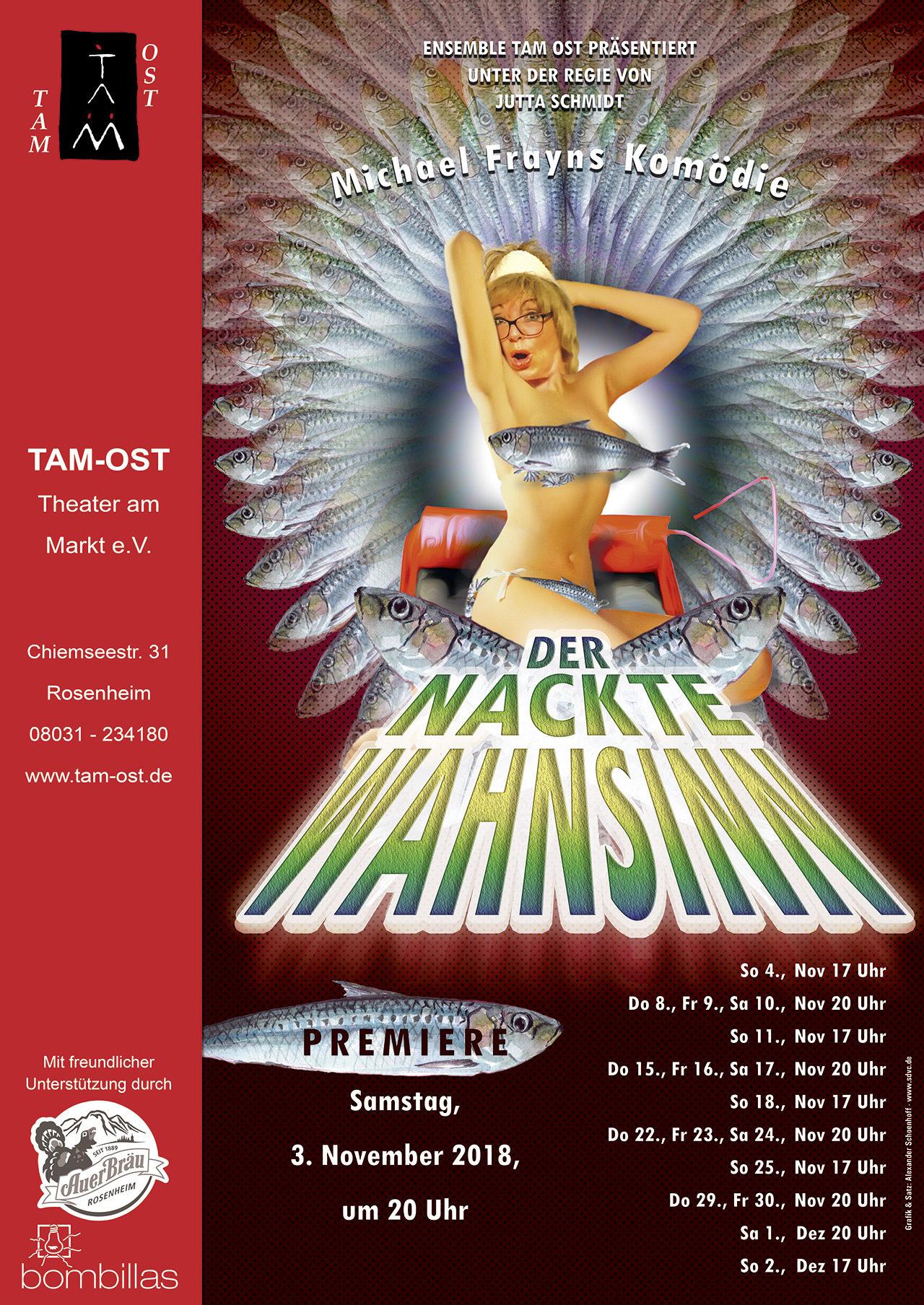 Plakat - Der nackte Wahnsinn - 2018